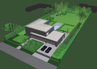 Moderne tuinprojecten hortulus tuinarchitectuur for Tuinarchitect modern strak