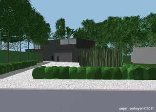 Moderne tuinprojecten hortulus tuinarchitectuur for Voortuin strak modern