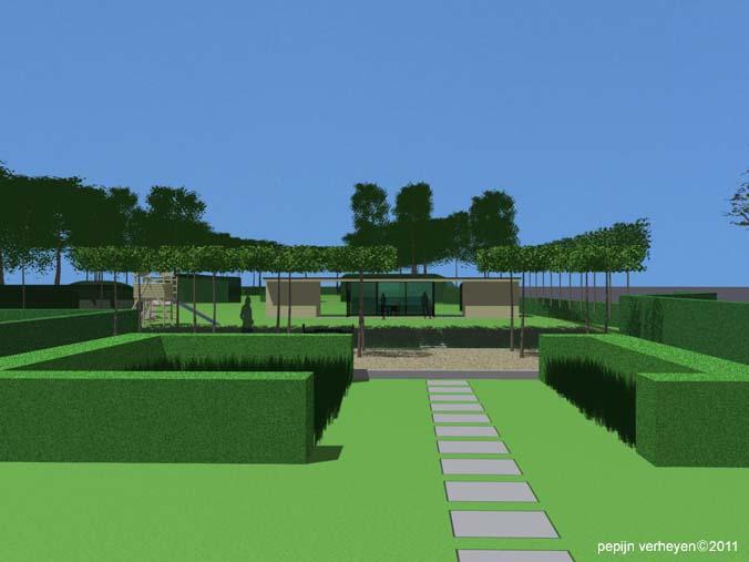 Grote Moderne Tuin : Moderne tuinprojecten hortulus tuinarchitectuur